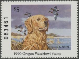 Scan of 1989 Oregon Duck Stamp MNH VF