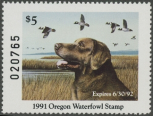 Scan of 1990 Oregon Duck Stamp