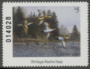 Scan of 1993 Oregon Duck Stamp