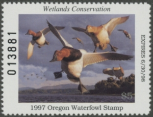 Scan of 1995 Oregon Duck Stamp