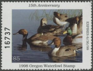 Scan of 1994 Oregon Duck Stamp