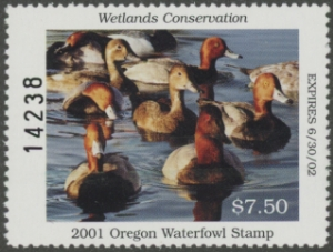 Scan of 1997 Oregon Duck Stamp