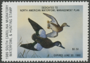 Scan of 1989 South Carolina Duck Stamp