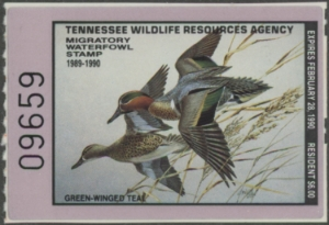 Scan of 1989 Tennessee Duck Stamp