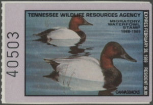 Scan of 1988 Tennessee Duck Stamp