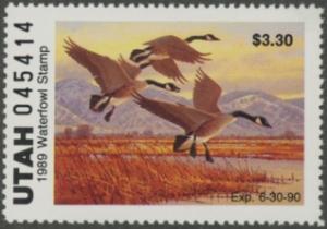 Scan of 1989 Utah Duck Stamp