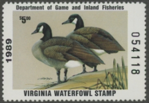 Scan of 1989 Virginia Duck Stamp
