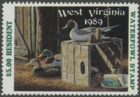 Scan of 1989 West Virginia Duck Stamp  MNH VF