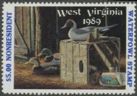 Scan of 1989 West Virginia NR Duck Stamp  MNH VF
