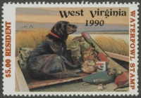 Scan of 1990 West Virginia Resident Duck Stamp  MNH VF