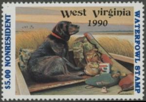 Scan of 1990 West Virginia NR Duck Stamp