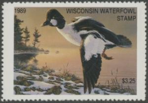 Scan of 1989 Wisconsin Duck Stamp