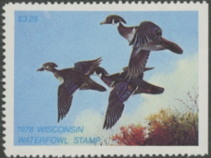 Scan of 1978 Wisconsin Duck Stamp - First of State