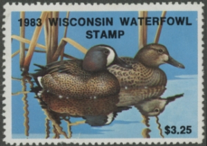 Scan of 1983 Wisconsin Duck Stamp