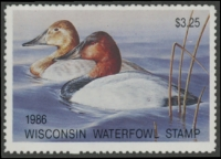 Scan of 1986 Wisconsin Duck Stamp