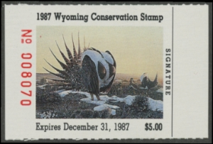 Scan of 1987 Wyoming Duck Stamp