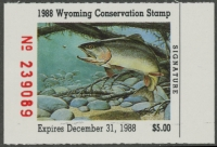 Scan of 1988 Wyoming Duck Stamp MNH VF