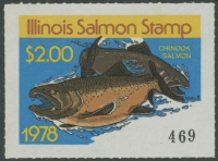 Scan of 1978 Illinois Salmon Stamp