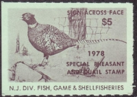Scan of 1978 New Jersey Pheasant & Quail Stamp