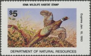 Scan of 1992 Iowa Wildlife Habitat Stamp