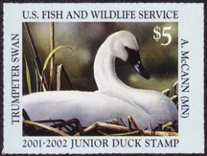 Scan of JDS9 2001 Duck Stamp