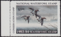 Scan of 1983 National Waterfowl Stamp