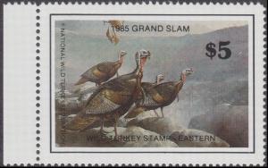 Scan of 1985 Grand Slam Wild Turkey Stamp