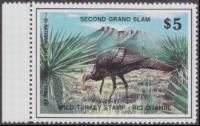 Scan of Second Grand Slam Wild Turkey Stamp MNH VF