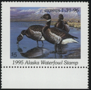 Scan of 1995 Alaska Duck Stamp
