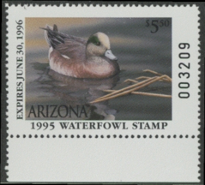 Scan of 1995 Arizona Duck Stamp