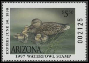 Scan of 1997 Arizona Duck Stamp