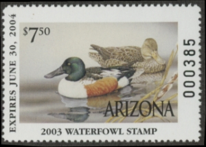Scan of 2003 Arizona Duck Stamp