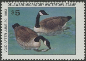 Scan of 1982 Delaware Duck Stamp