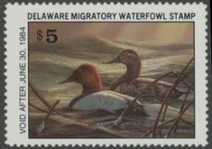 Scan of 1983 Delaware Duck Stamp MNH VF