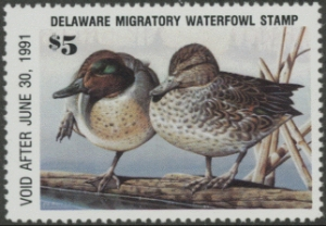 Scan of 1990 Delaware Duck Stamp
