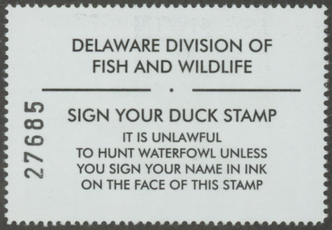 Scan of 1997 Delaware Duck Stamp  MNH VF
