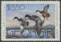 Scan of 1986 Georgia Duck Stamp