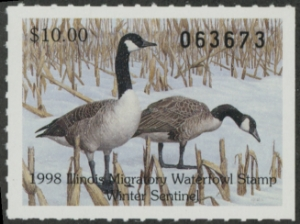 Scan of 1998 Illinois Duck Stamp