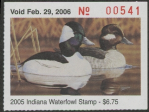 Scan of 2005 Indiana Duck Stamp