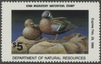 Scan of 1989 Iowa Duck Stamp  MNH F-VF