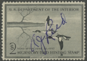 Scan of RW23 1956 Duck Stamp Used
