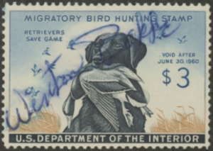 Scan of RW26 1959 Duck Stamp Used