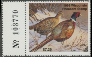 Scan of 1998 Wisconsin Pheasant Stamp MNH VF