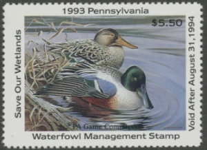 Scan of 1993 Pennsylvania Duck Stamp