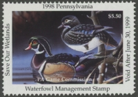 Scan of 1998 Pennsylvania Duck Stamp