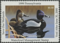 Scan of 1999 Pennsylvania Duck Stamp MNH VF