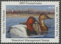 Scan of 2003 Pennsylvania Duck Stamp MNH VF