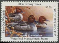 Scan of 2006 Pennsylvania Duck Stamp MNH VF