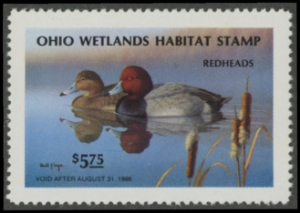 Scan of 1985 Ohio Duck Stamp MNH VF