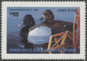 Scan of 1991 Ohio Duck Stamp